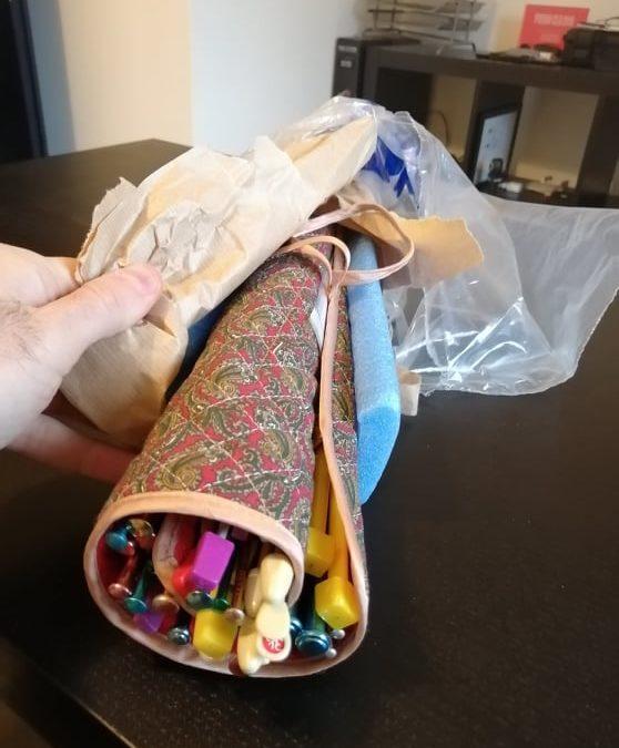 Grazie ad Anna per questo prezioso carico di ferri da calza arrivato proprio ora